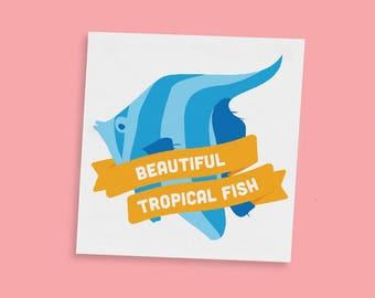 Beautiful Tropical Fish Temporary Tattoos | Leslie Knope | Parks And Rec