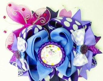 Vidia hair bow inspired, fairy bow