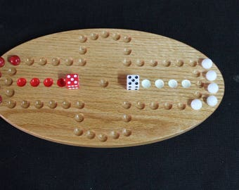 Two player Aggravation Game Solid Oak