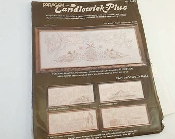 Candlewick Kit, Welcome, Paragon Candlewick, Welcome Sign, Embroidery Kit, Sampler Pattern, Candlewick Sampler, Candlewick Motto