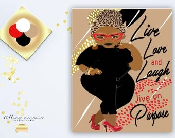 Live, Love and Laugh Greeting Card