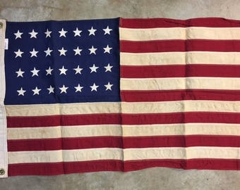 Tea Stained - Antiqued 2 X 3 USA 28 Star Flag (Texas was 28th State)