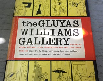 The Gluyas Williams Gallery, Drawings, New Yorker Series, MCM Humor, Collectible, Hard to Find, Gift Display, Read Aloud, Fun Cover Graphics