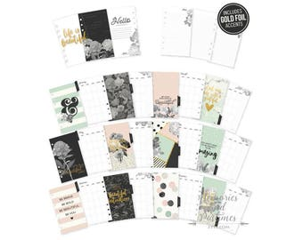 Personal Planner Inserts - Personal Inserts - Monthly Insert - Dividers - Filofax - Personal Size - Carpe Diem Beautiful Collection - 021715