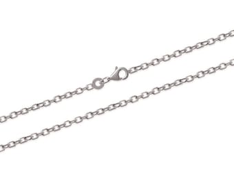 Silver 925/000 90 cm long chain necklace to add a pendant