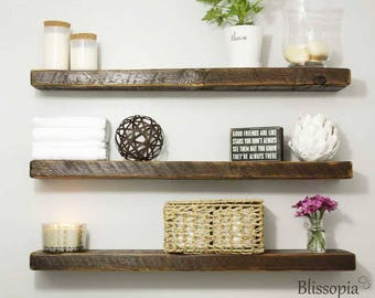 Floating Shelf - Wall Shelf - Shelving - Reclaimed Shelves - Beautiful Rustic Hand Crafted - Floating Shelves - Barn Wood Mantel
