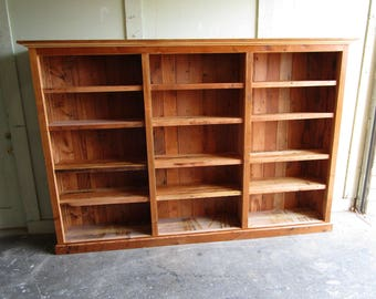 Bookcase made from reclaimed wood custom made in the USA