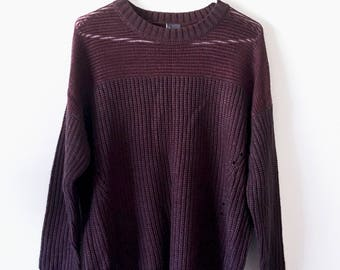Urban Outfitters Sparkle and Fade Purple Sweater