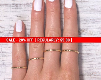 SALE 20% OFF SALE -stacking rings, gold ring, thin gold ring, stackable ring, simple ring, knuckle ring