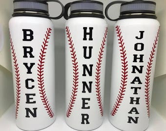 40oz Baseball Stainless Steel Water Bottle