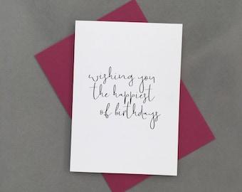 Happy Birthday Card. Birthday Card. Happiest of Birthdays