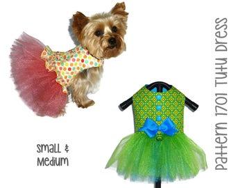 Tutu Dog Dress Pattern 1701 * Small & Medium * Dog Clothes Sewing Pattern * Dog Harness Dress * Dog Apparel * Dog Outfit * Girl Dog Clothes