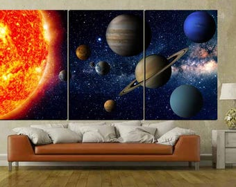 Solar System Wall Art,Kids Room Art,Educational Wall Art,Kids Room Art,Solar System Canvas Art,Solar System Poster,Solar System Canvas Print