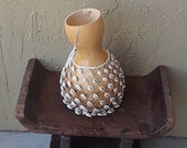Reserved For Layla: Sekere (small Yoruba-style netted gourd rattle)            FREE DOMESTIC SHIPPING