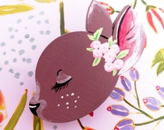 Blossom the Fawn Wooden Pin