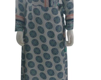 ON SALE long sleeve maxi dress: white background with emblem print