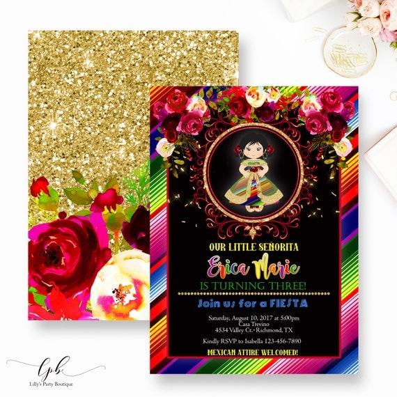 Fiesta Birthday Invitation, Mexican Fiesta Birthday