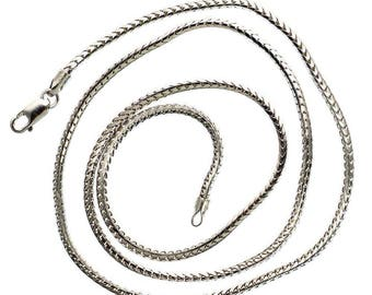 """Solid 24"""" 14K White Gold Franco Chain 1.70 MM"""