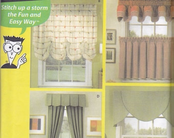 Simpicity 5980 Vintage Pattern Home Decor Valance Pattern in 4 Variations UNCUT