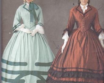 Simplicity 1818 Costume Pattern WOmens Civil War Era Dress in Variations Size 8,10,12,14 UNCUT