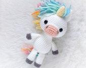 Pattern: Crochet Unicorn Pattern, Amigurumi Unicorn Pattern, Pony Horse, Crocheted Unicorn, Amigurumi Horse Pony, Tutorial PDF Pattern