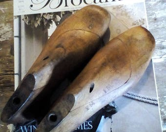Vintage French Wooden Shoe Lasts, Antique Shoe Last, Door stop, Industrial decor ~ antique wooden shoe lasts Dutch