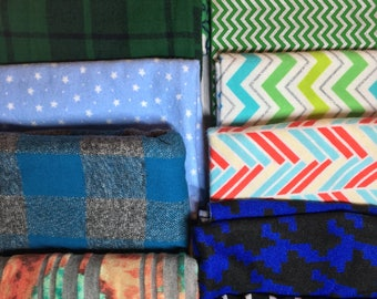 Patterns Theme Fabric Pack - Cotton Woven and Flannel and Knit