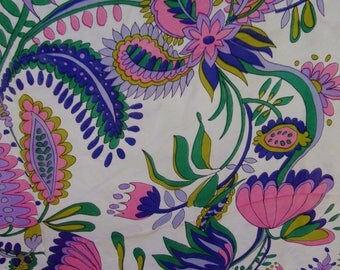 John Powers Floral and Paisley Scarf