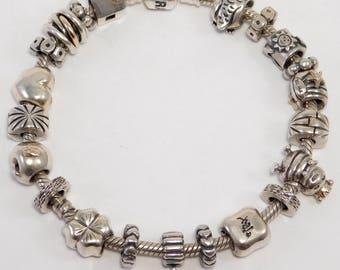 Pandora Bracelet With 20 Unique Ale Pandora Charms Sterling
