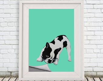 Bulldog Print, from original painting Coco de Paris, french bulldog, frenchie