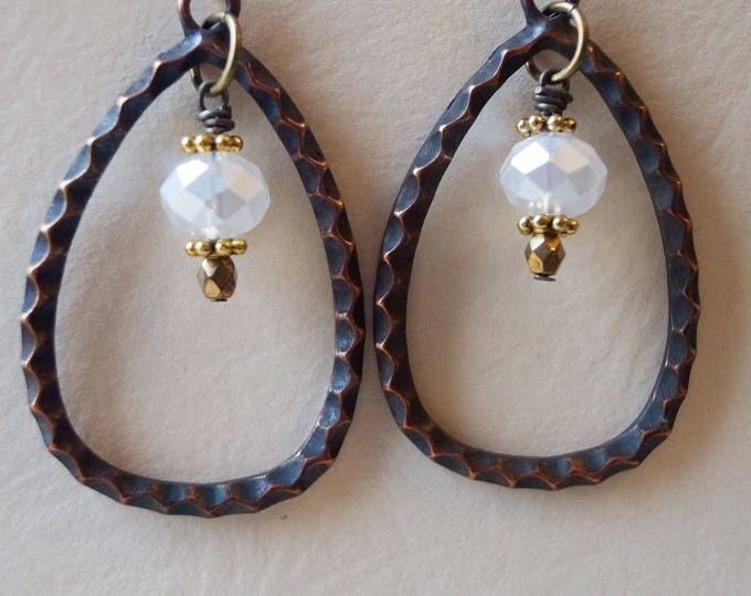 Boho style teardrop earrings