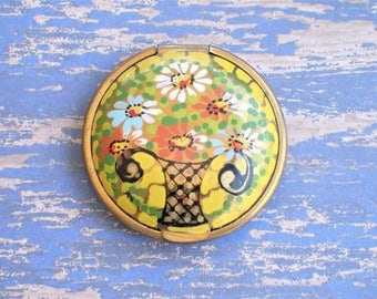 Lovely Colorful Flower Basket Compact with Patent date 7-1-24