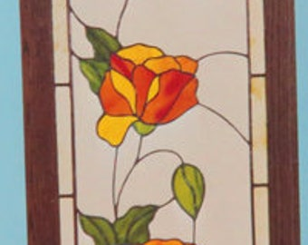 Patterns - Stained Glass Window Patterns - Flowers - Calla Lily - Morning Glories - Stained Glass Patterns