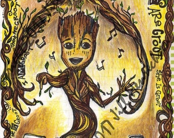 I AM GROOT 5x7 with Customized Option