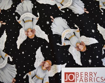 Angels from the Silent Night Collection by Blank Quilting.  Quilt or Craft Fabric, Fabric by the Yard.