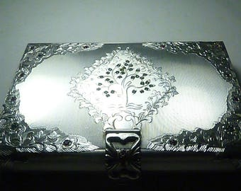 Extremely rare solid silver minaudiere solid silver vanity case  / carryalls 1950s