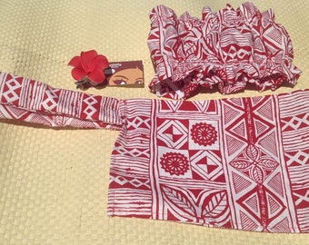 Toddlers Top , Flower & Sarong. Moana Inspired Set. Perfect For Baby And Toddlers.
