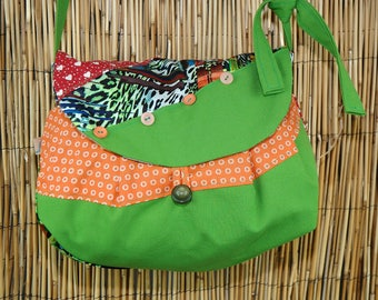 Hobo shoulder bag Patchwork Lola Collection fabrics