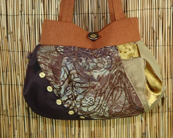 Small fabric Patchwork Collection Lalou shoulder tote bag