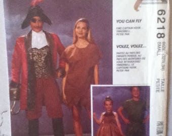 "McCalls Peter Pan Costumes Pattern 6218 Size: Small, Bust 32""-34"""