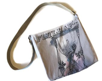 Flyleaf Bag • Upcycled Flyleaf Tshirt Bag • Band Tee Crossbody Bag • Handbag • Purse