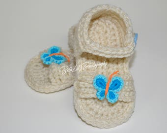 Baby Shower Gift. 6-9 month Baby Sandals, Baby Girl Shoes, Baby Girl Booties, Baby Girl Sandal, Infant Girl Shoes, 6-9 month Baby Gift Girl