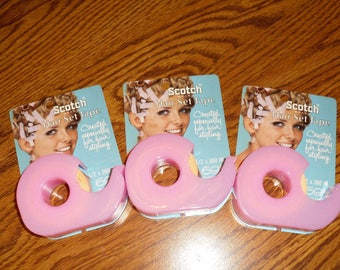 Vintage Scotch pink hair tape for styling 1960's