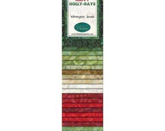 "Happy Holly Days Wilmington Jewels - 2.5"" strips"