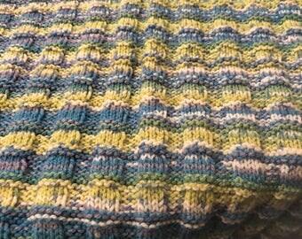 Multi coloured babys blanket