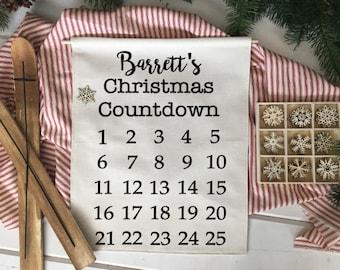 Custom Advent Calendar Countdown/ Christmas wall decor/ christmas decoration/ christmas wall hanging/ christmas decor/ farmhouse christmas