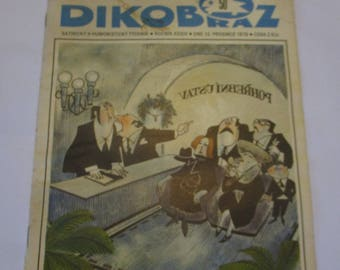 Vintage Dikobraz 1978 Bape Satiricky A Humoristicky Czechoslovakia Czech satire/humour