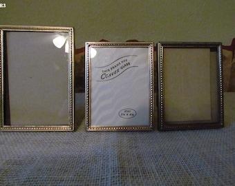 VIntage Small Gold Frames, Set of 3 matching frames