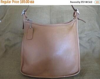 10% OFF SALE Genuine vintage COACH Andrea tan leather shoulder bag purse