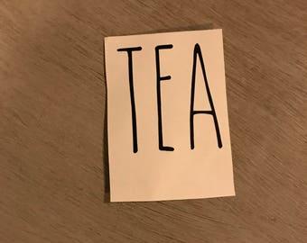 Inspired Rae Dunn Tea decal